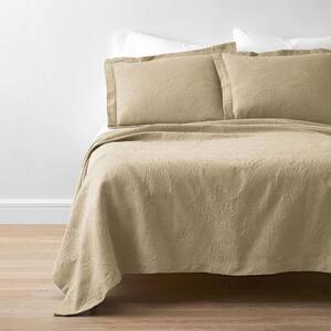 Putnam Matelasse Wheat Cotton Queen Coverlet
