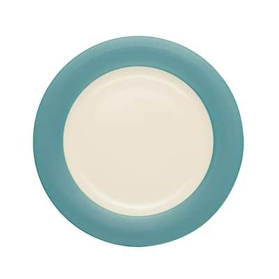 Colorwave Turquoise Stoneware Rim Round Platter 12-1/2 in.