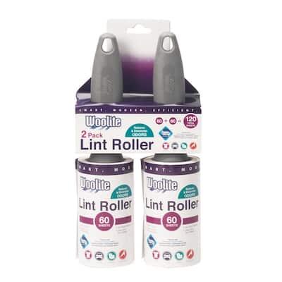 Sanitized Pro Grade 60-Sheet Super Jumbo Lint Roller (2-Pack)