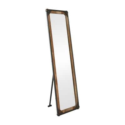 Oversized Light Pure Copper/ Sand Black Metal Tilting Industrial Mirror (67.88 in. H X 22.63 in. W)