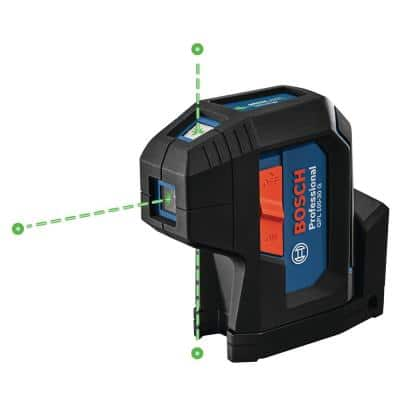 125 ft. Green 3-Point Self-Leveling Laser with VisiMax Technology, Integrated MultiPurpose Mount, and Hard Carrying Case
