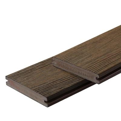 Apex 1 in. x 6 in. x 8 ft. Brazilian Teak Brown PVC Grooved Deck Boards (2-Pack)