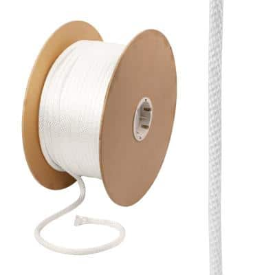 3/8 in. x 400 ft. Nylon Solid Braid Rope, White