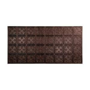 Traditional #10 2 ft. x 4 ft. Glue Up Vinyl Ceiling Tile in Smoked Pewter (40 sq. ft.)