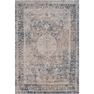 Natalius Medium Gray 8 ft. x 10 ft. Indoor Area Rug