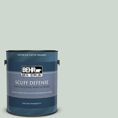 1 gal. #MQ3-21 Breezeway Extra Durable Satin Enamel Interior Paint & Primer
