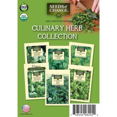 Organic Culinary Herbs Collection (6-Pack)
