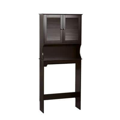 Ellsworth 27-9/25 in. W x 64-4/7 in. H x 9-1/4 in. D 2-Door Over the Toilet Storage Cabinet in Brown