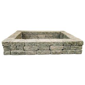 RomanStack 69 in. x 52 in. x 12 in. Northwest Blend Concrete Raised Garden Bed