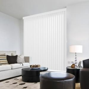 Crown White Room Darkening Vertical Blind for Sliding Door or Window - Louver Size 3.5 in. W x 78.5 in. L(9-Pack)