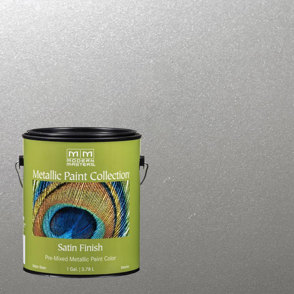 1 gal. Silver Satin Metallic Interior Paint
