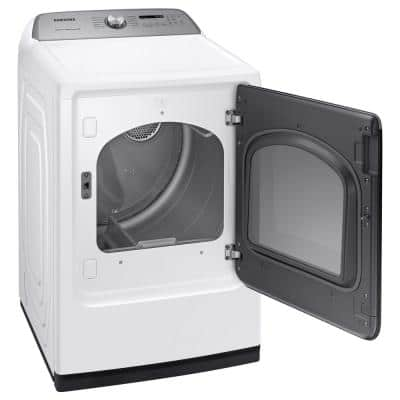 7.4 cu. ft. 240-Volt White Electric Vented Dryer with Steam Sanitize+, ENERGY STAR