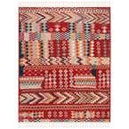 Farmhouse Navy/Red 9 ft. x 12 ft. Floral Area Rug