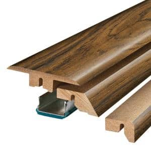Paradise Jatoba 3/4 in. Thick x 2-1/8 in. Wide x 78-3/4 in. Length Laminate 4-in-1 Molding