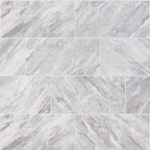 Newgate Gray Marble Matte 12 in. x 24 in. Glazed Ceramic Floor and Wall Tile (15.04 sq. ft./Case)