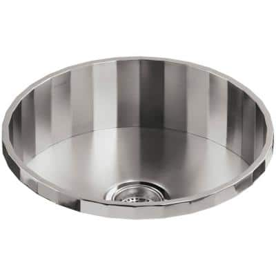 Brinx 18 Gauge Stainless Steel 19 in. Drop-in Bar Sink