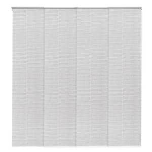 23 in. Slates Up to 86 in. W x 96 in. L Zipper Light Filtering Adjustable Sliding Window Panel Track