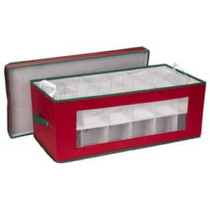 Holiday Ornament Chest Red with Green trim/36