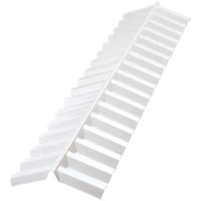 4 ft. Polycarbonate Roof Panel Ridge Cap in White Opal