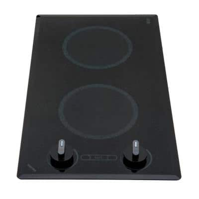 Mediterranean Series 12 in. Smooth Glass Radiant Electric Cooktop in Black with 2 Elements