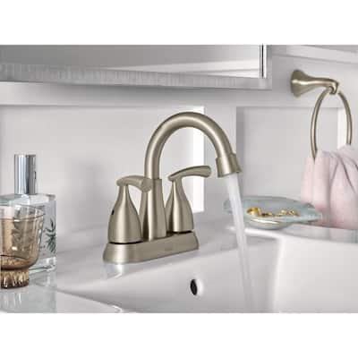 Essie 2-Handle 4 in. Centerset Bathroom Faucet in Spot Resist Brushed Nickel