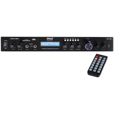 200-Watt Home Theater Amplifier Audio Receiver Sound System with Bluetooth Wireless Streaming MP3/USB/SD/AUX/FM Radio