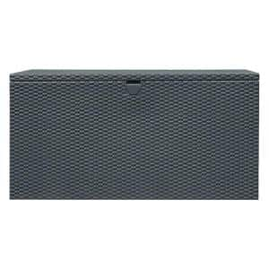 4 ft. D x 2 ft. W x 2 ft. H 134 HDG Steel Spacemaker Deck Box in Anthracite with Corrugated Floor and Pneumatic Lift