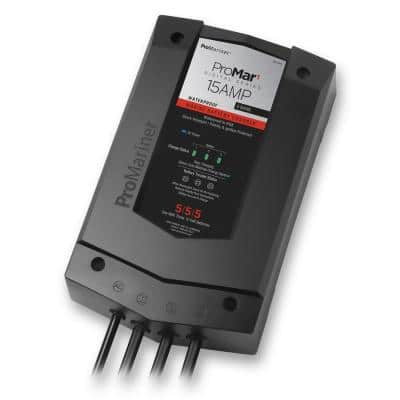 ProMar1 DS 15 Amp DC Recreational Marine and Industrial Grade On-Board Battery Charger
