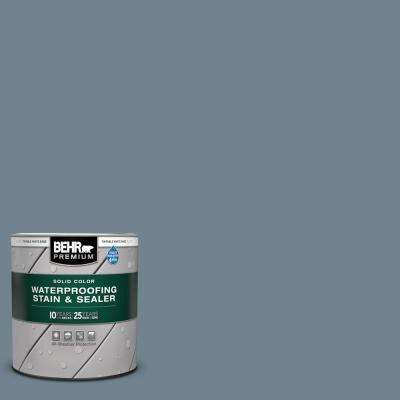 1 qt. #N480-5 Adirondack Blue Solid Color Waterproofing Exterior Wood Stain and Sealer