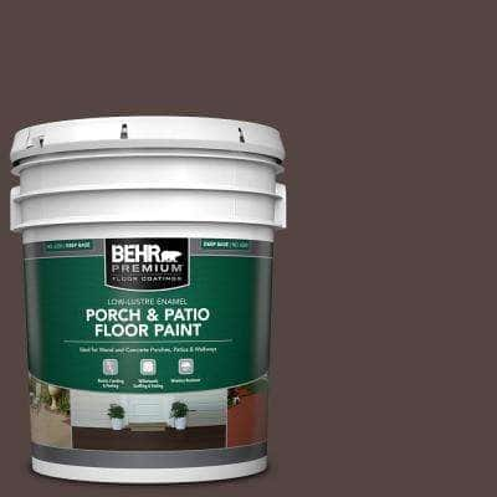 5 gal. #PFC-25 Dark Walnut Low-Lustre Enamel Interior/Exterior Porch and Patio Floor Paint