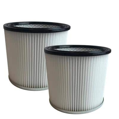 2pk Replacement Filter Cartridges, Fits Shop-Vac Wet & Dry Vacs, Compatible with Part 90304, 9039800 & 88-2340-02