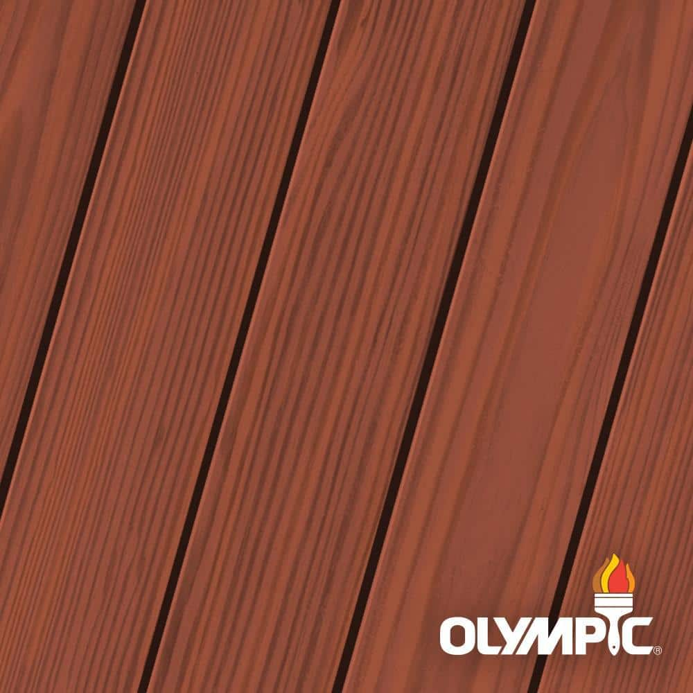Olympic Elite 3-gal. Cumaru EST4 Semi-Transparent Exterior Stain and Sealant in One Low VOC