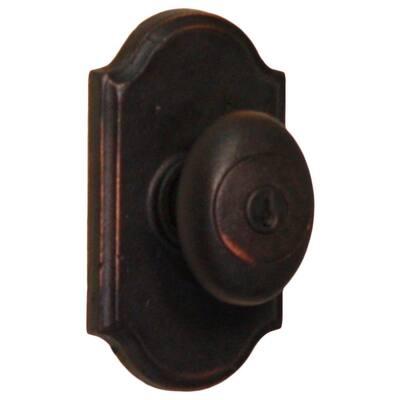 Molten Bronze Oil-Rubbed Bronze Premiere Keyed Entry Durham Door Knob