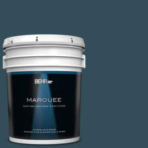 Behr Marquee 5 Gal Home Decorators Collection Hdc Cl 28 Nocturne Blue Satin Enamel Exterior Paint Primer 945305 The Home Depot