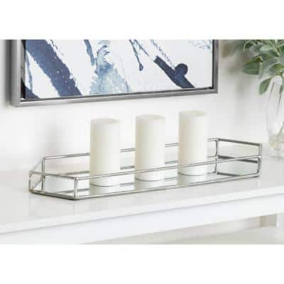 Felicia Silver Decorative Tray