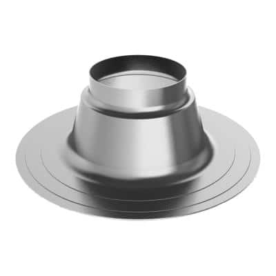 3 in. Dia Aluminum Flat Roof Flashing Venting for Water Heaters