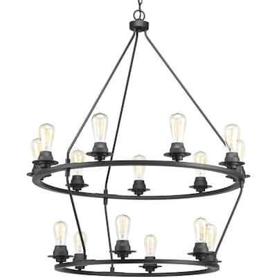 Debut Collection 15-Light Graphite Farmhouse Chandelier Light