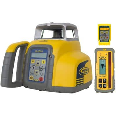 Rotary Laser Level with HL760 Laser Receiver Self-Leveling Horizontal and Vertical Dual Grade