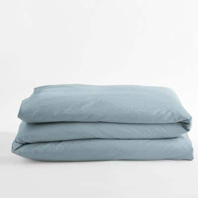 Legends Luxury Dot Blue Haze Cotton Sateen Oversized King Duvet Cover