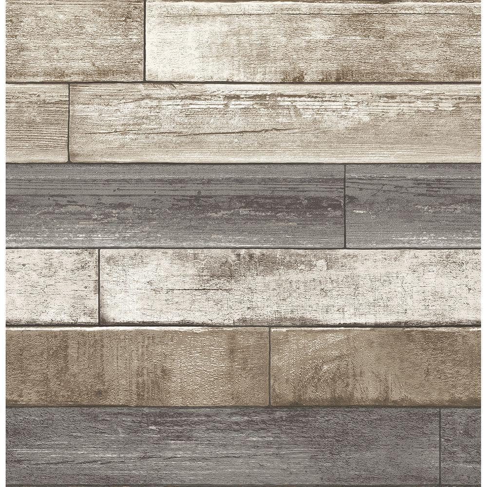 Brewster Weathered Plank Grey Wood Texture Grey Wallpaper Sample 2701 22345sam The Home Depot