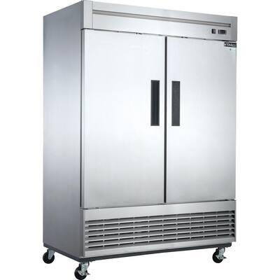 40.7 cu. Ft. 2-Door Commercial Upright Freezer in Stainless Steel