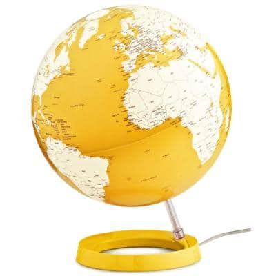 Light and Color 12 in. Yellow Designer Series Desktop Globe