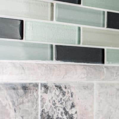 Tundra Grey .75 in. x 11.875 in. Marble Wall Pencil Tile (1 Linear Foot)