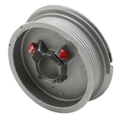 Diecast, Red Painted Right Hand Torsion Spring Cable Drum