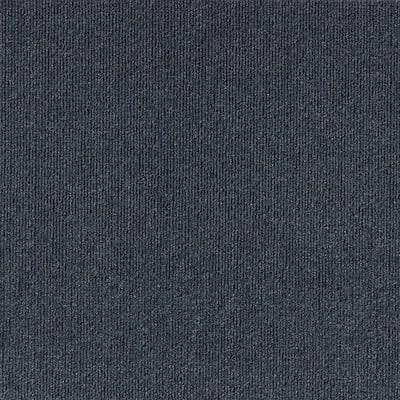 Peel and Stick Design Smart Ocean Blue Rib 18 in. x 18 in. Residential Carpet Tile (10 Tiles/Case)