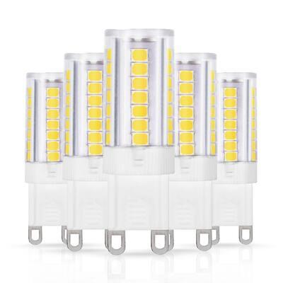 40-Watt Equivalent Non-Dimmable G9 LED Light Bulb in Daylight 6000K (5-Pack)