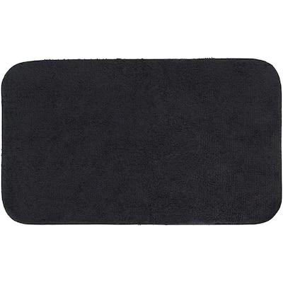 Legacy Black 20 in. x 34 in. Nylon Machine Washable Bath Mat