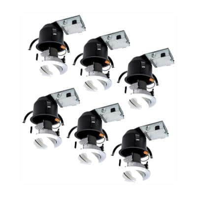 RA 4 in. (6-Pack) Remodel Ceiling Housing and (6-Pack) Dimmable White Integrated LED Recessed Spotlight Kit