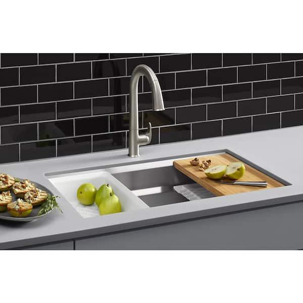 https www homedepot com p kohler prolific undermount stainless steel 29 in l single bowl kitchen sink k 23651 na 304307683