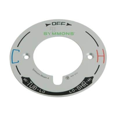 Temptrol 4 in. Dial in Chrome for Tub and Shower